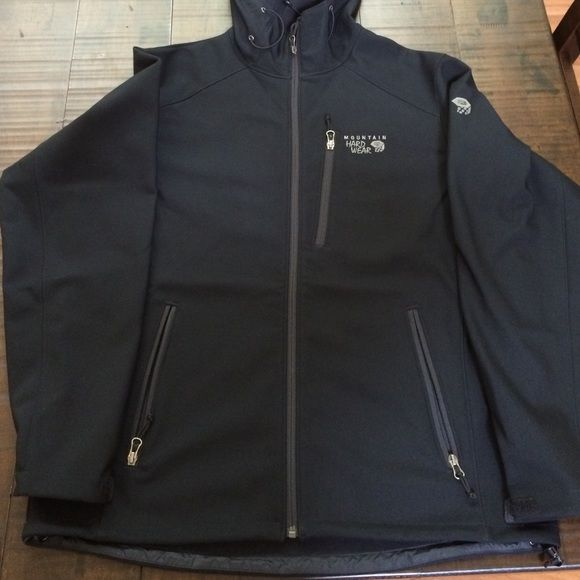 Mountain Hardwear Jacket Mountain Hardwear Jacket//size large//black//soft shell//great condition 10/10 Mountain Hard Wear Jackets & Coats