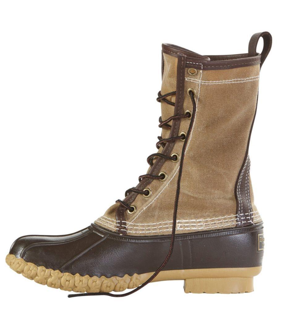 944a24cbd7c Katahdin Patch Waxed-Canvas L.L.Bean Boots, 10