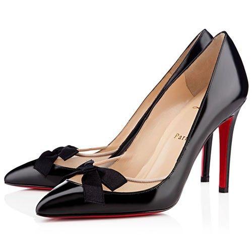 Chaussure Louboutin Pas Cher Escarpins Love Me 100mm Noir #talon