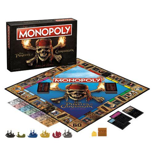 Disney Doppelgangers Pirates Edition: Pirates Of The Caribbean Ultimate Edition Monopoly Game