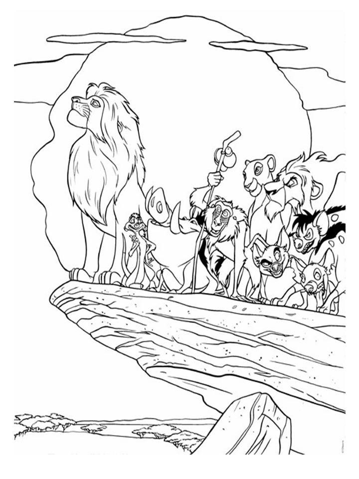 kleurplaten disney leeuwenkoning