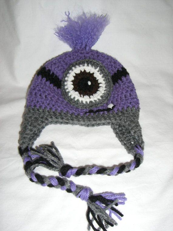 Minion beanie-Evil Purple Minion, Despicable Me 2 via Etsy | In My ...