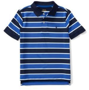 9f572f8023 Ralph Lauren Performance Lisle Polo Shirt Sapphire Star Multi 2T ...