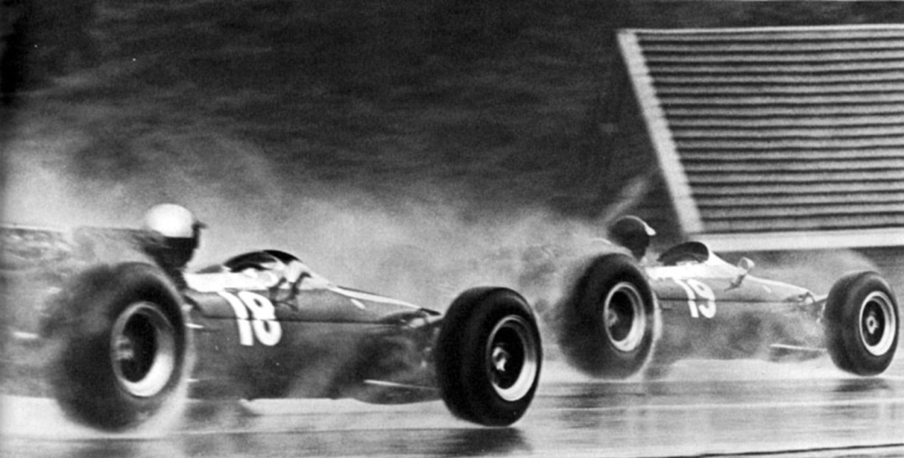 1966 belgian gp rindt ginther both in cooper t81 maserati v12
