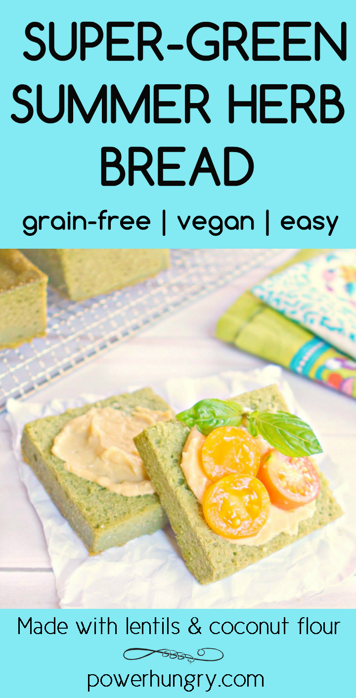 Super Green Herb Bread Grain Free Vegan