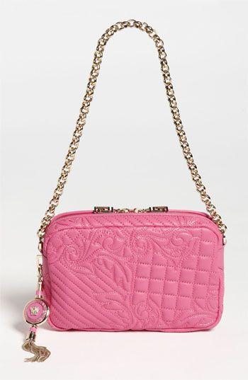 0c597a73d71 Versace Vanitas Embroidered Leather Shoulder Bag available at #Nordstrom