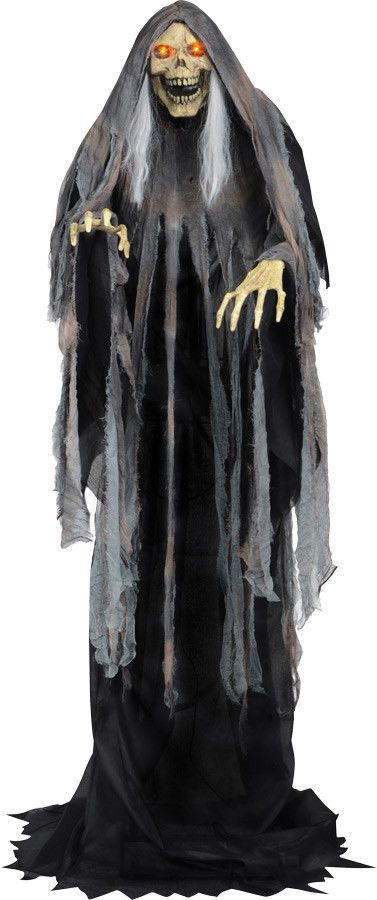 Animated Life Size Rising Grim Reaper Halloween Prop Decoration - life size halloween decorations