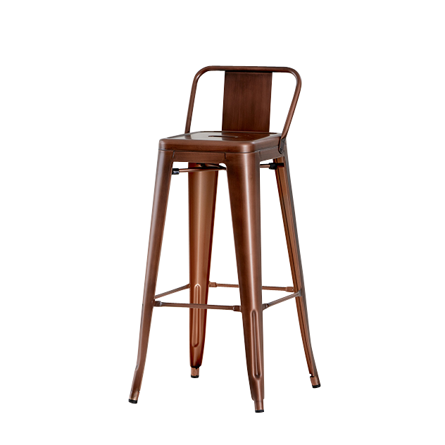 Industrial Barstool With Backrest Bar Stools Copper Bar Stools
