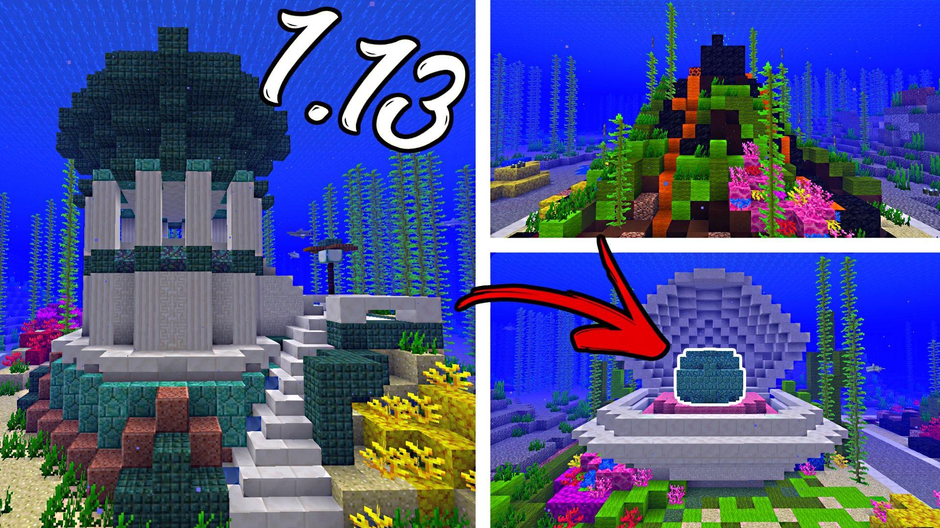 Minecraft Conduit Designs New 1 13 Aquatic Update Item Minecraft Designs Minecraft Projects Minecraft