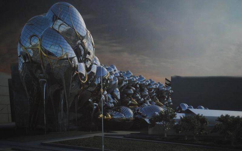 Futuristinen kuplakolossi