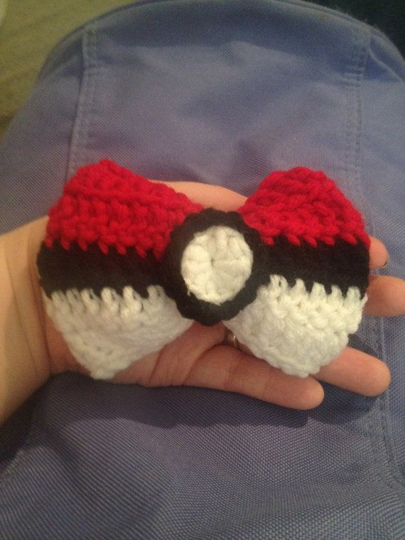 Pokemon inspired handmade crochet 'Pokebow' by OffTheHookLLC