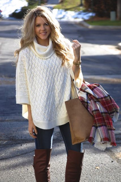 Love oversized sweaters | Outfits I love:) | Pinterest | Ponchos ...