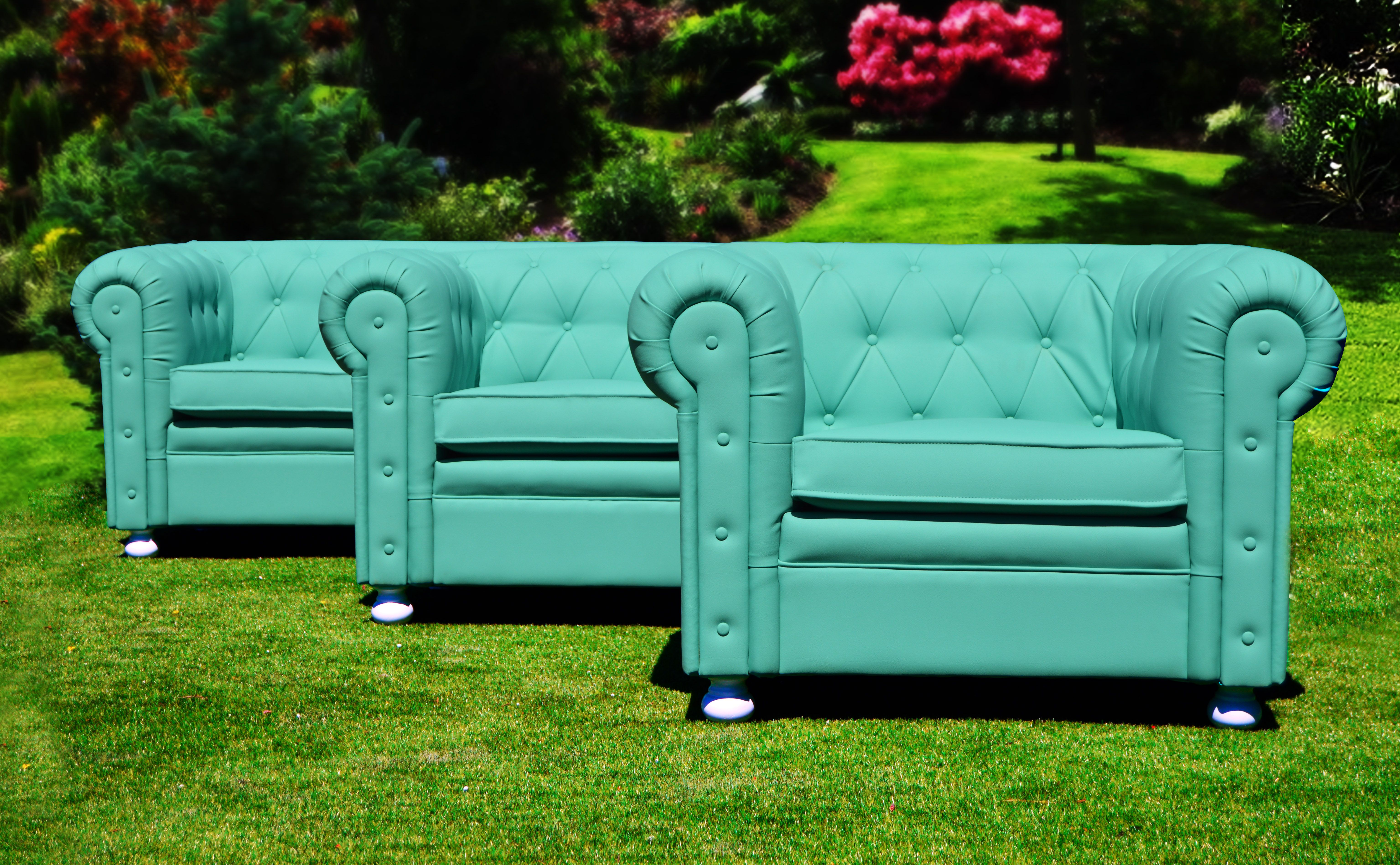 Sof Chester Color Turquesa Chester Couch Turquoise  # Muebles Segunda Mano Noia