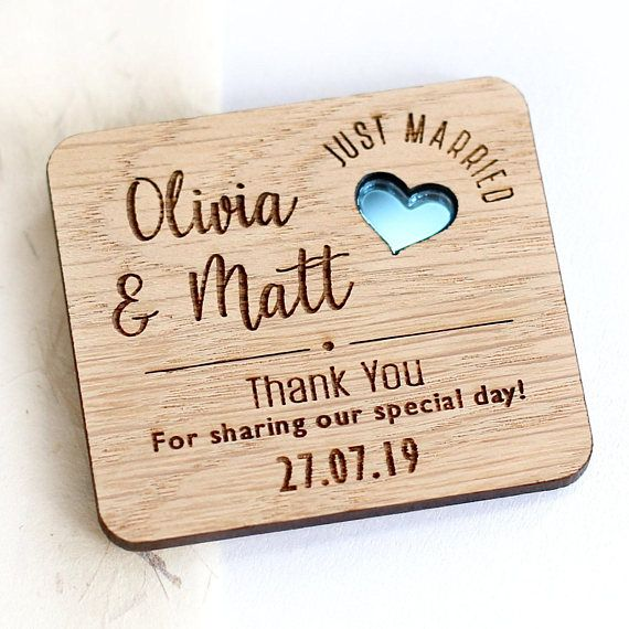 Rustic Thank You Wedding Favours