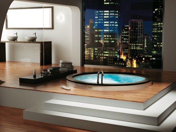 Vasca Da Bagno Uma Jacuzzi : Vasca da bagno idromassaggio rotonda da incasso collezione nova by