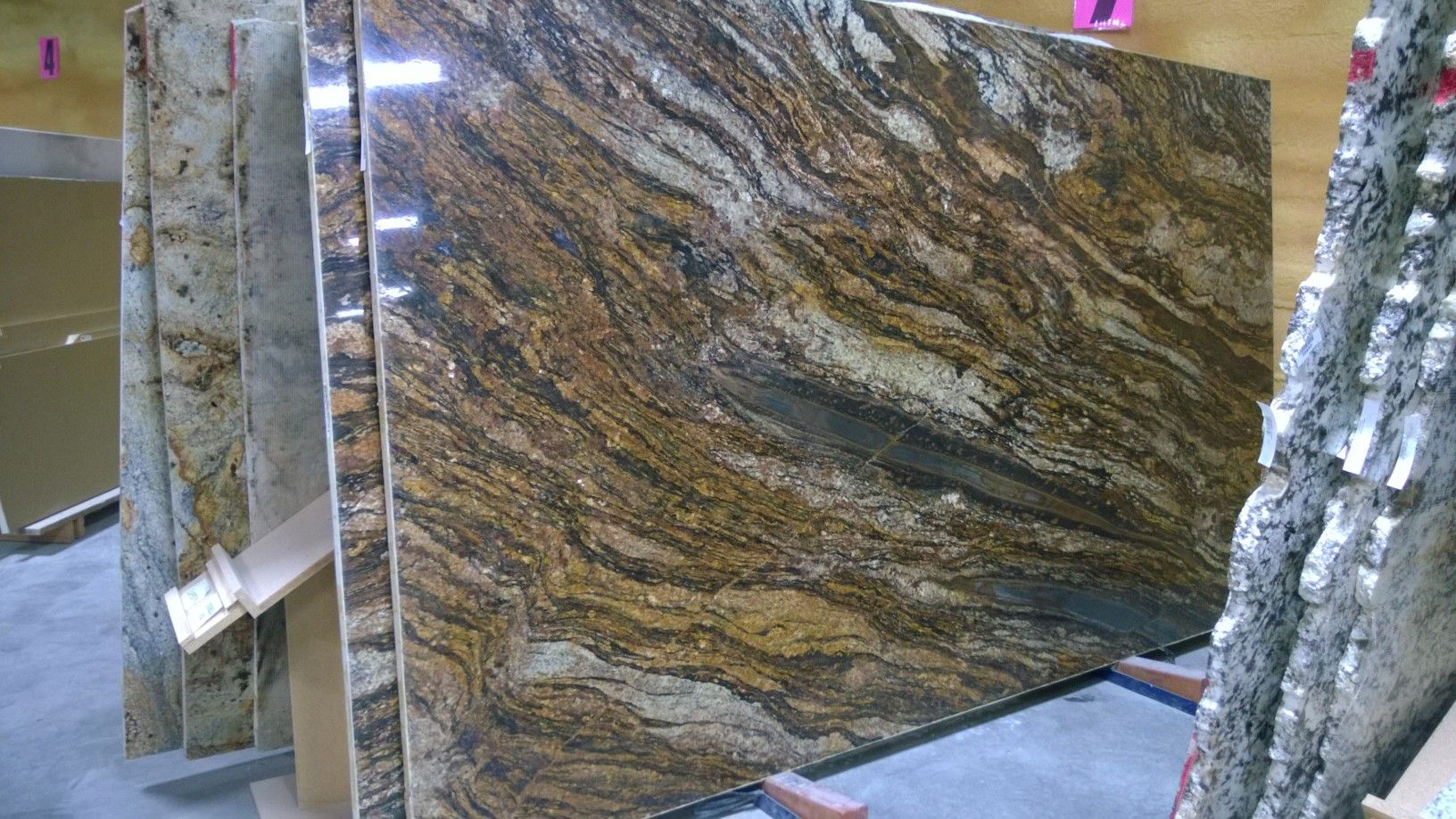 Full Slab Cinderella Gold Granite | Slabs of Granite | Pinterest ...