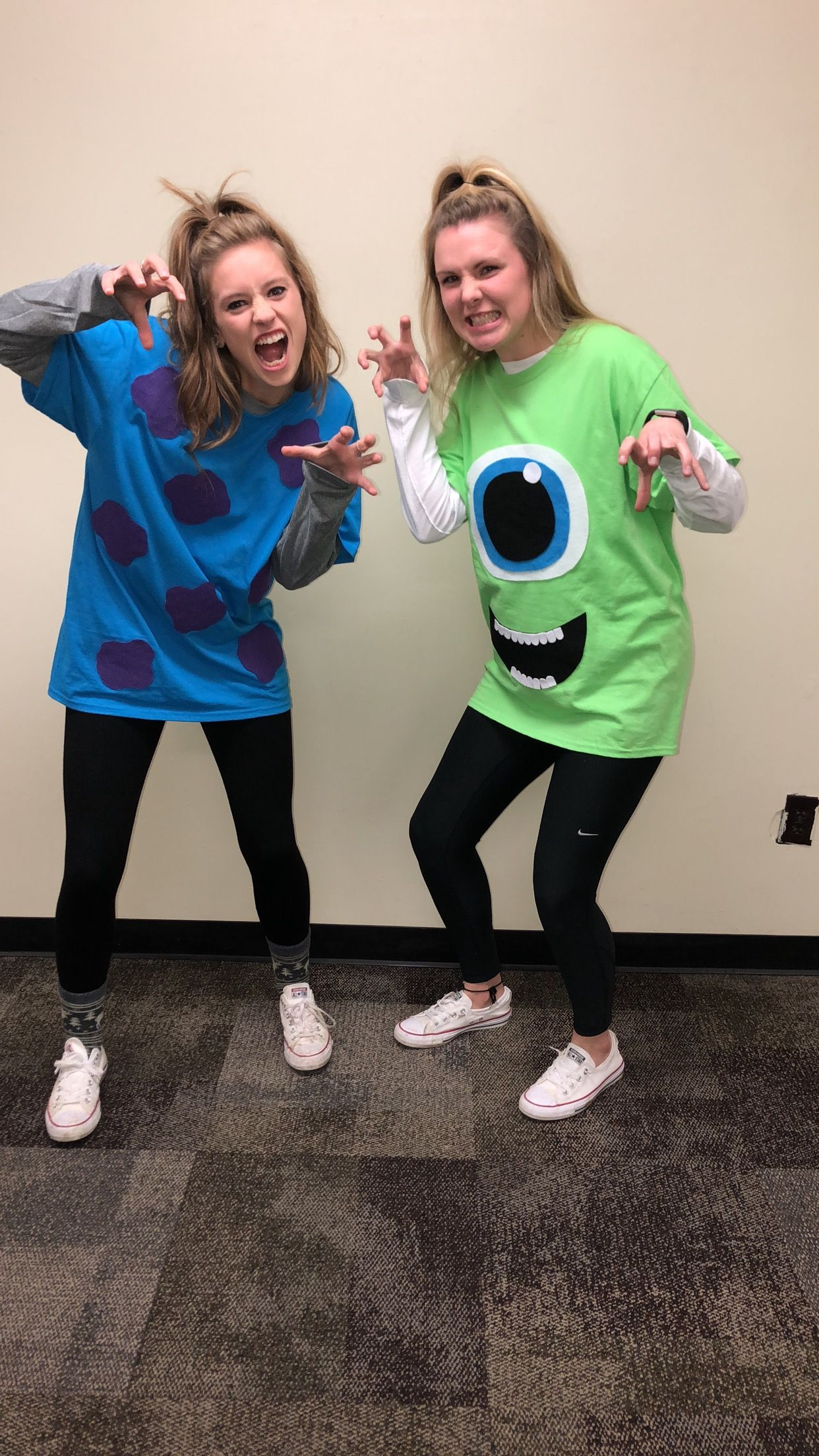 Diy Monsters Inc Mike Sully Halloween Costumes In 2019
