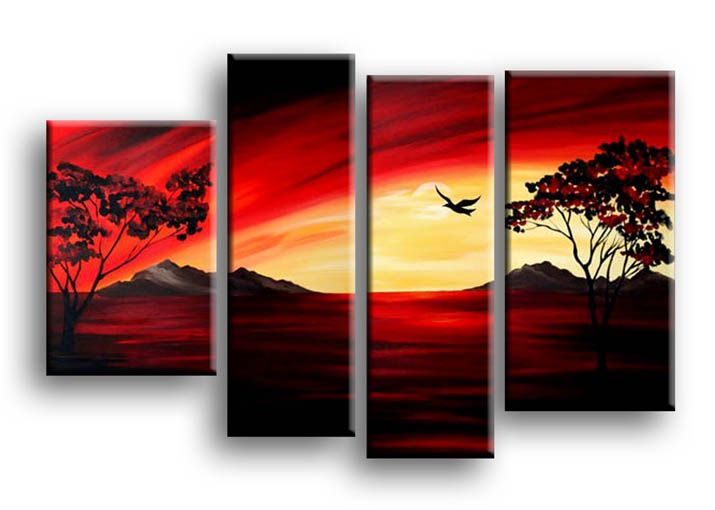 Wall Art Sunset Painting Multi Canvas Painting Amazing Art Painting Multiple Canvas Art
