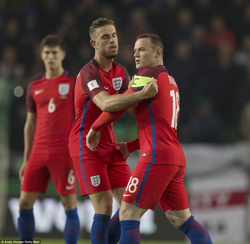 Henderson was quick to give Rooney back the captain's