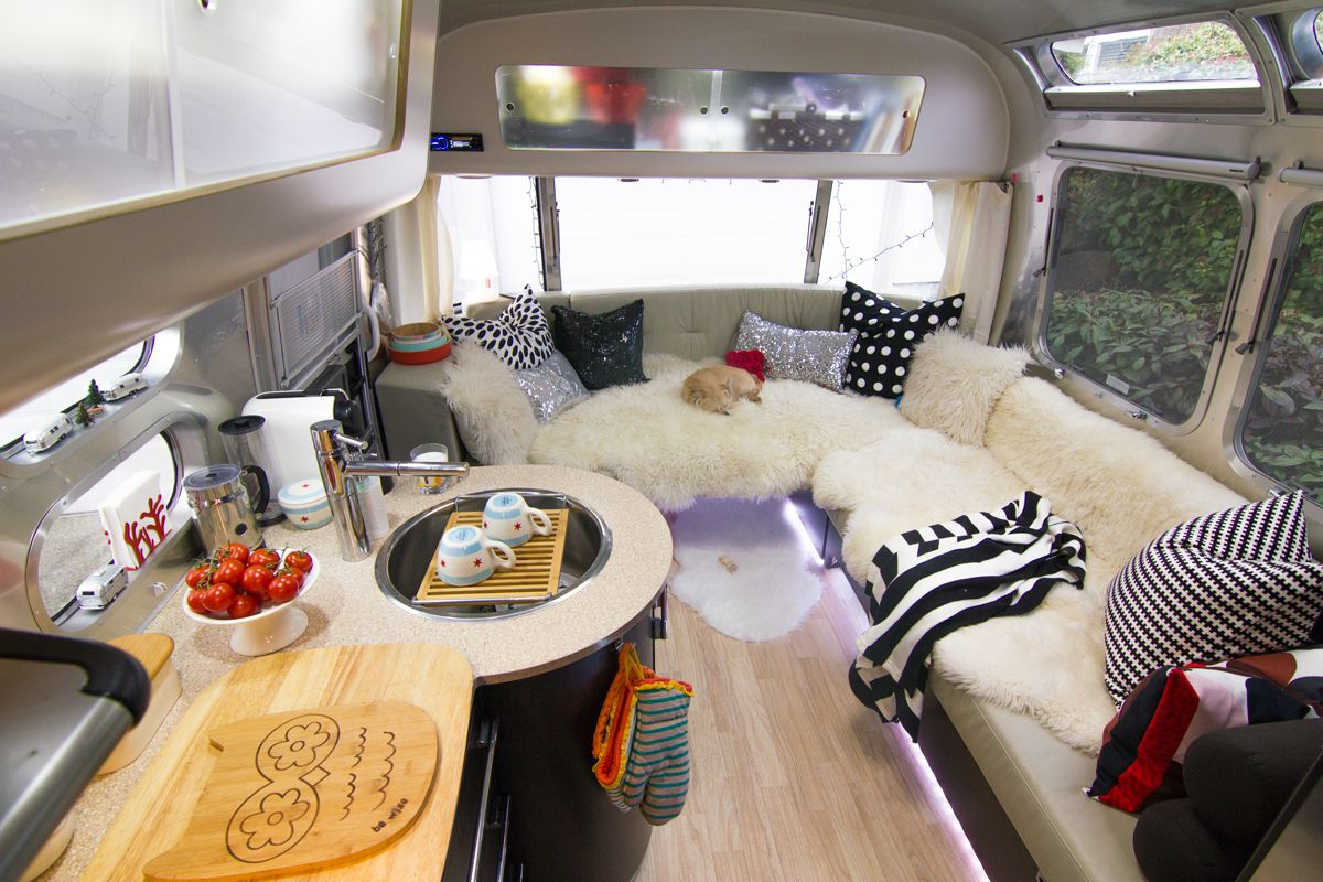 Modern Airstream Decor Looks Like A Classy Page From An