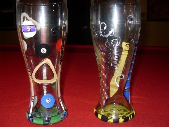 Beer glasses for men by InteriorLandscapes on Etsy, $12.00