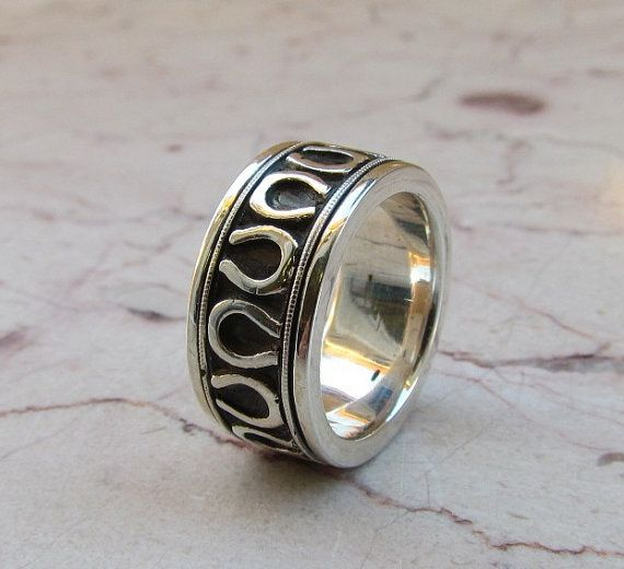 horseshoe wedding band equestrian sterling silver by usajewelry 28995 - Horseshoe Wedding Rings