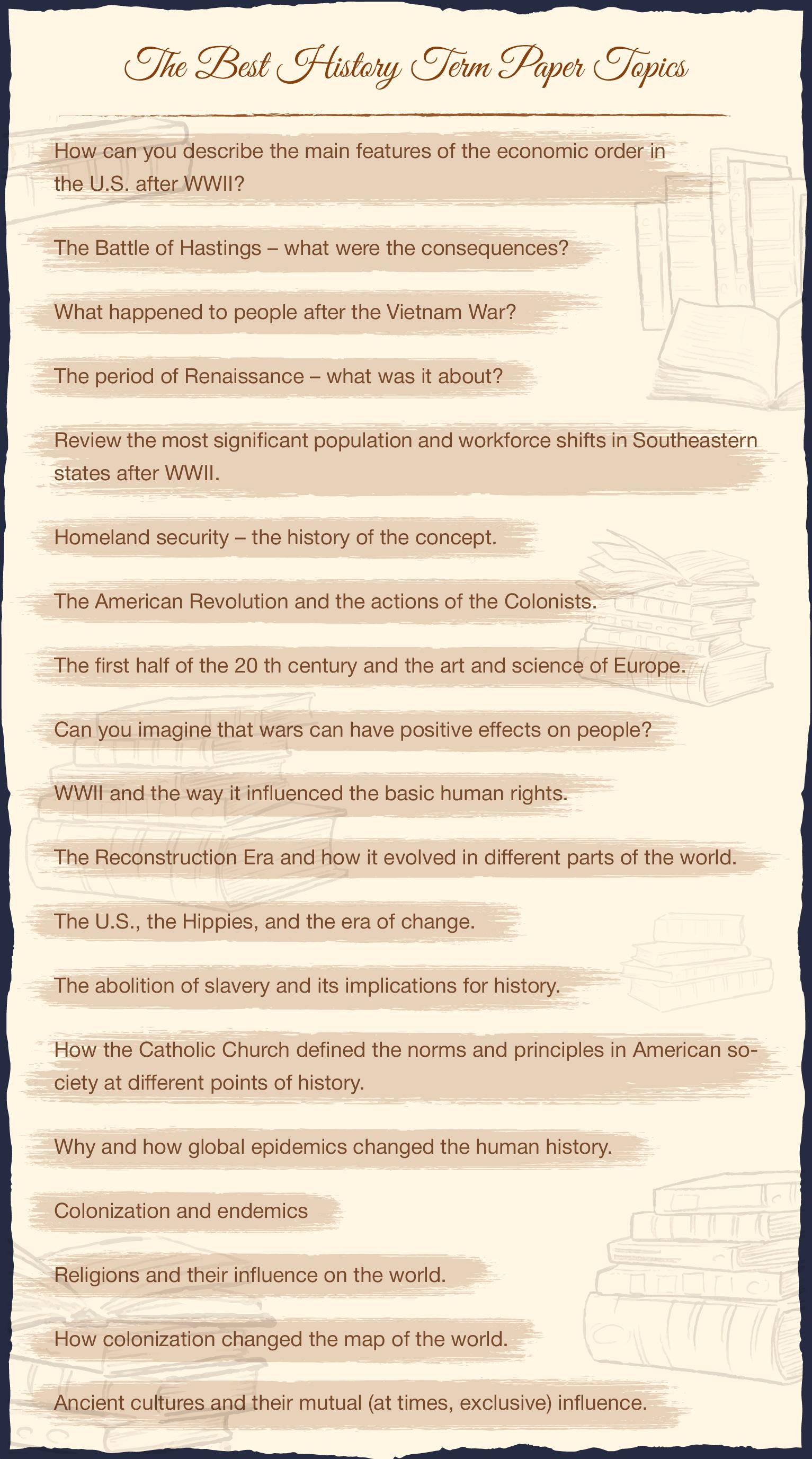 The Best History Term Paper Topics Term Paper Writing Topics Topics
