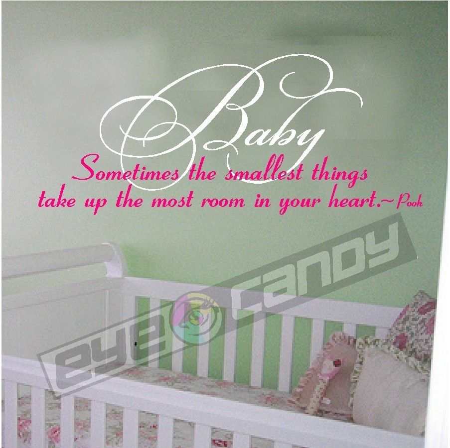 Sometimes The Smallest Things Nursery Wall Decal