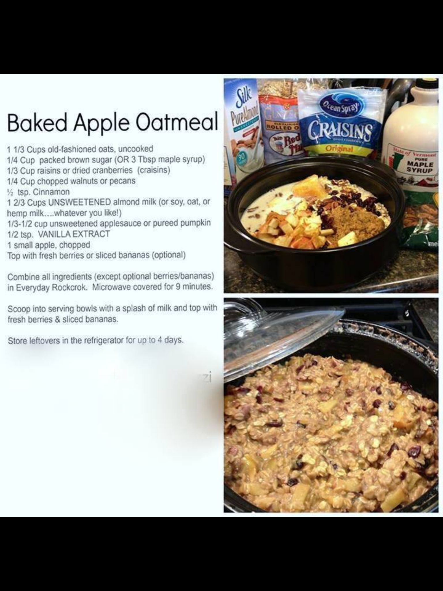 Oatmeal Deep Covered Baker Pampered Chef Recipes