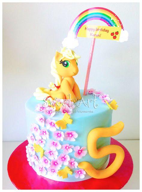 Sweet Art Cakes by Milbreé Moments: Keren's My Little Pony (Applejack) 5th Birthday Ca...
