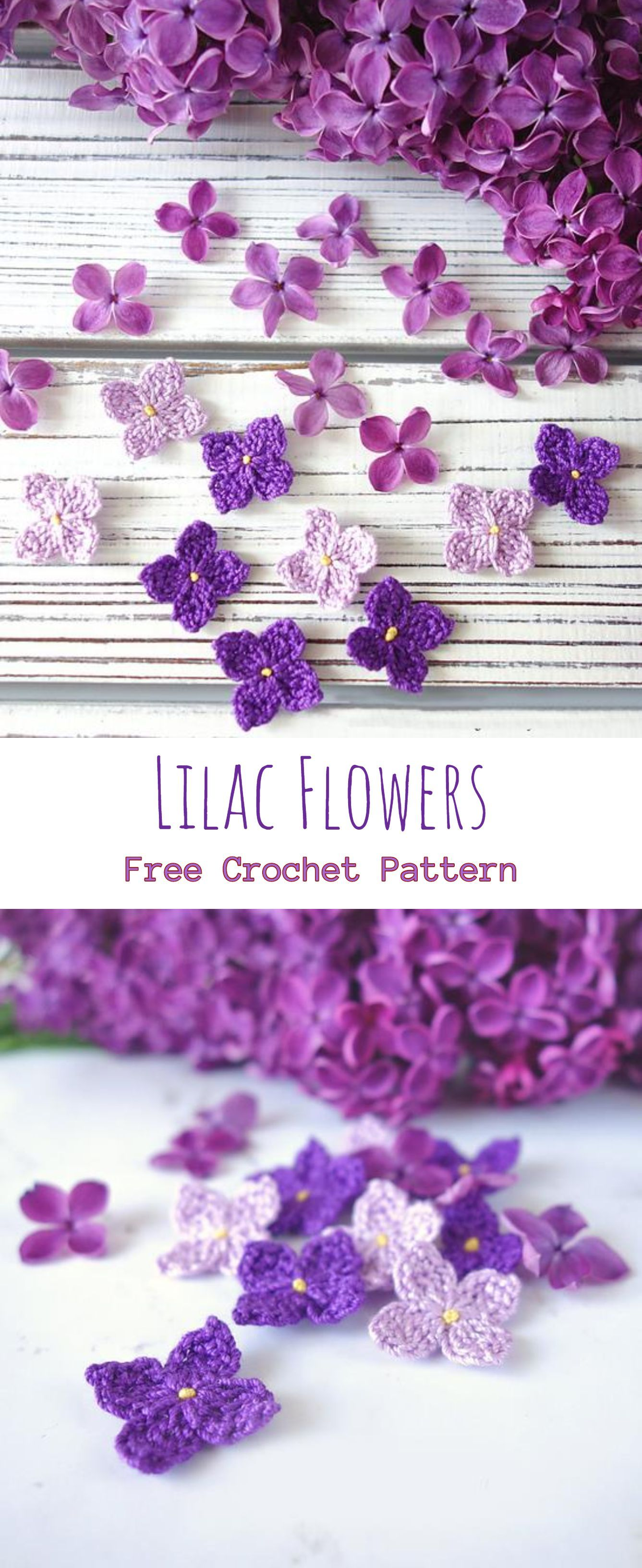 Crochet Lilac Flower #crochetflowers