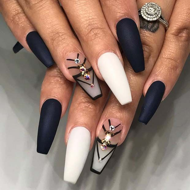 41 Tasteful Ways to Wear Long Coffin Nails