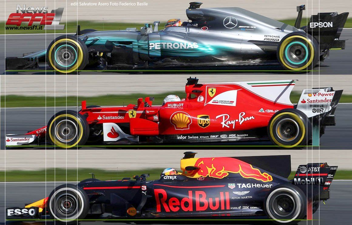 43087085fd8 Wheelbase comparisons, 2017 testing of Mercedes, Redbull and Ferrari. Find  this Pin and more on Formula 1 ...