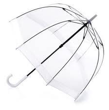 Black Border Fibreglass Frame Clear Dome umbrella