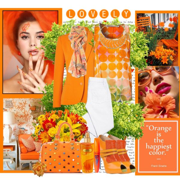 """~Orange is the Happiest Color~"" by tammynky on Polyvore"