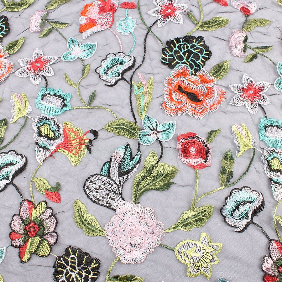 Cheap Fabric Buy Directly From China Suppliers Hot Sell Flower Embroidered Lace Fabric Net Fabric Flora Embroidered Lace Fabric Net Fabric Embroidered Flowers