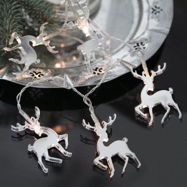 Reindeer Mirror Reflective Christmas Lights on a string. Add ...