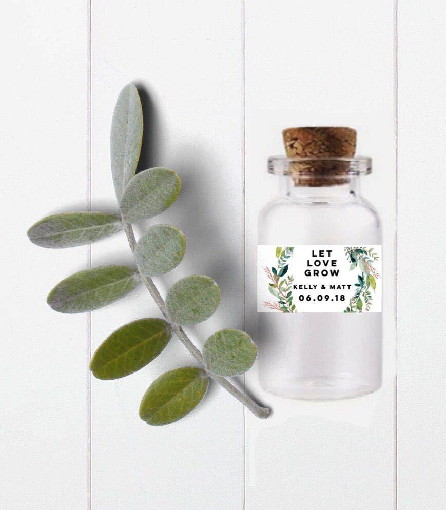 Let Love Grow-Seed favor jar-seed favor bottle-test tube favor ...