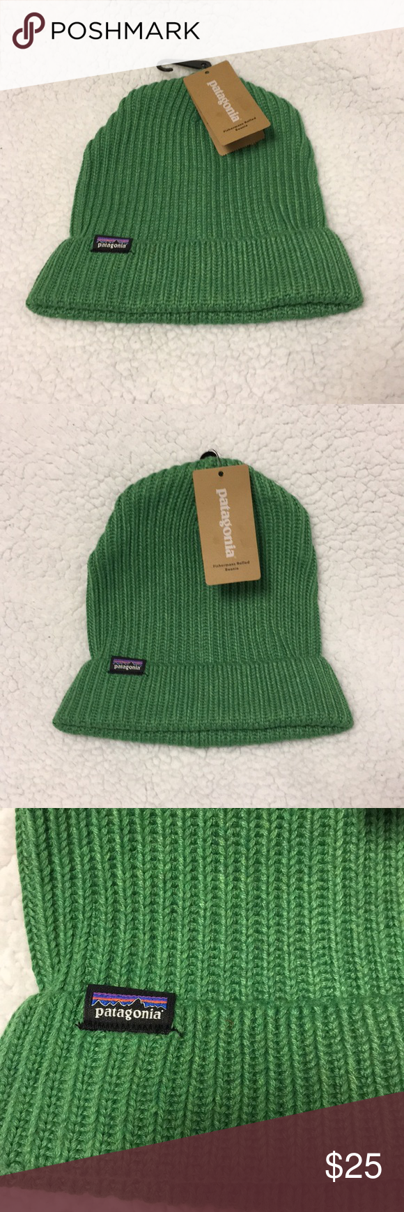 f6ef06cf01ad4 Patagonia Fisherman s Rolled Beanie 🧢🧢🧢 Brand new in the color myrtle  green