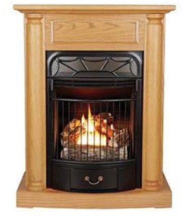 Kozy World Windsor Gas Fireplace With Oak Mantel 20 000