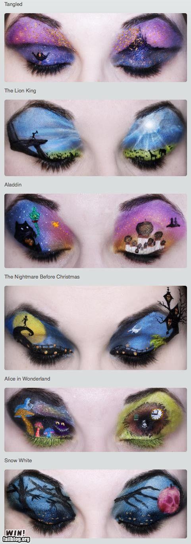 Disney themed eyeshadow @Beth Marsh