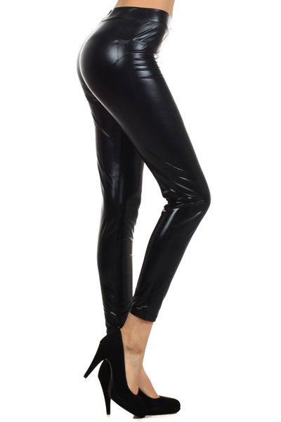 Must have high waist, faux leather leggings. Perfect paired with just about anything.