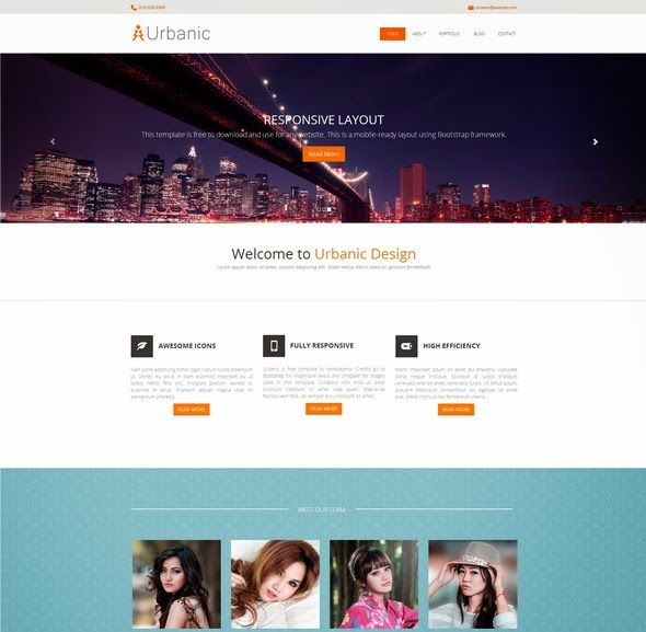 Free Responsive Css3 And Html5 Website Templates Web Development