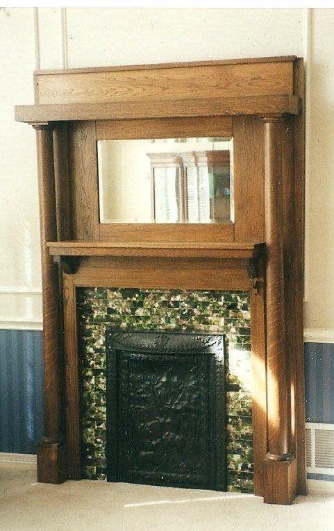 Oak, Iron & Tile Victorian Fireplace Mantle - Fireplace Mantels Edwardian Fireplace Mantel Fire Surrounds
