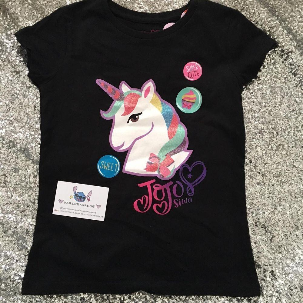 Details about jojo siwa girls unicorn t shirt top primark