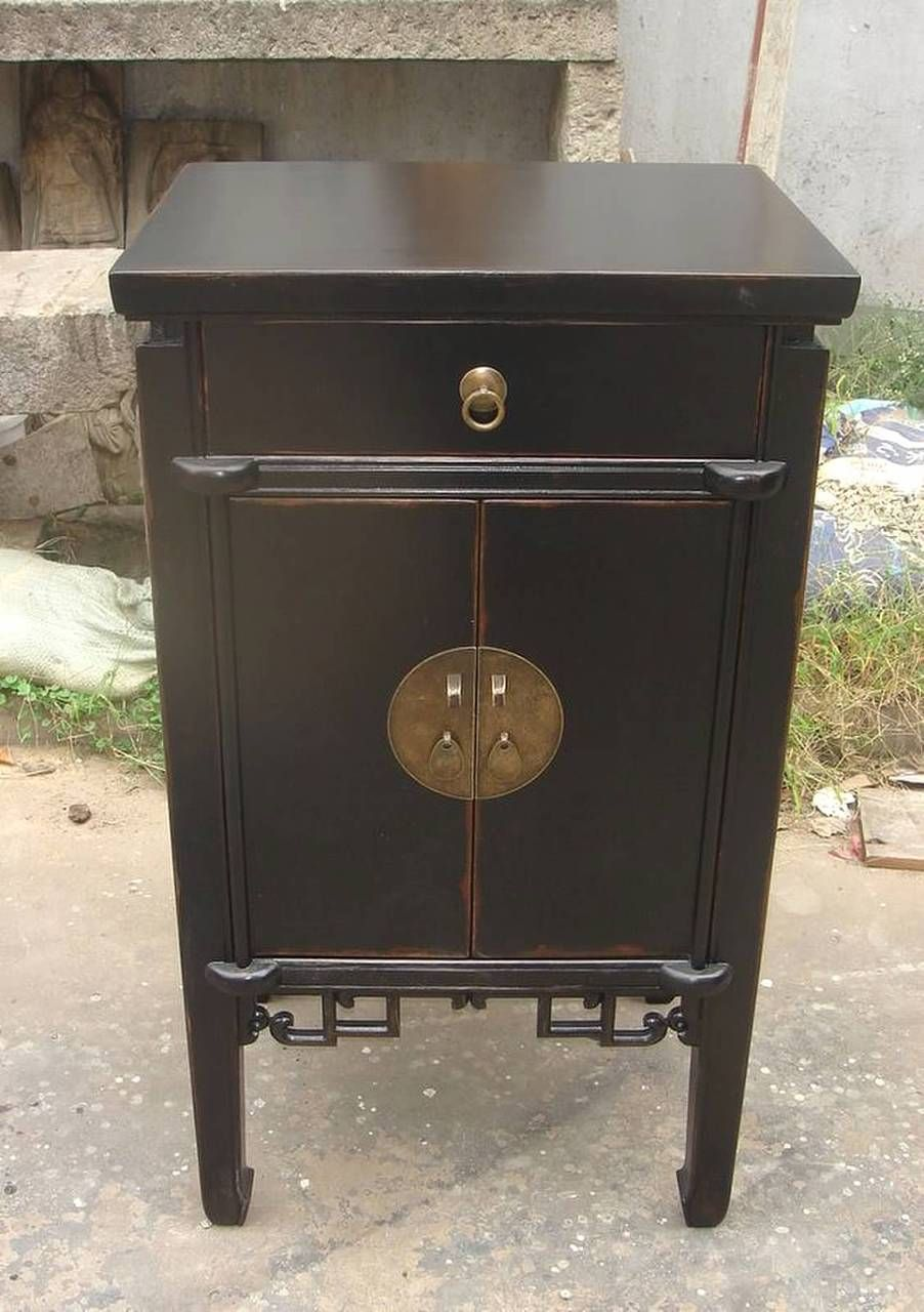 Oriental Furnishings End Table Antique Black Lacquer 624 00 Http