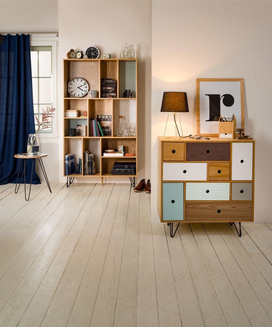 micasa wohnzimmer mit kommode und regal aus dem programm carolyn ... - Wohnzimmer Design Programm