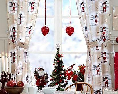 ideas para decorar cortinas en navidad