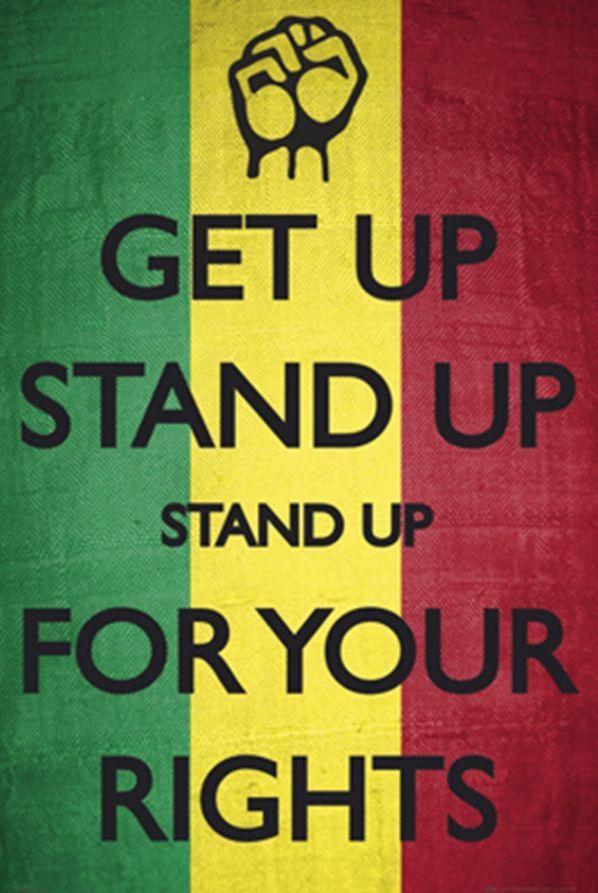Bob Marley Get Up Stand Up Poster Bob Marley Lyrics Bob Marley Bob Marley Art