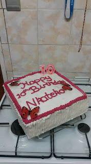 Yvette van Niekerk ~ God's Orchird: Cake Diary:  Cream Cake Baked on Monday